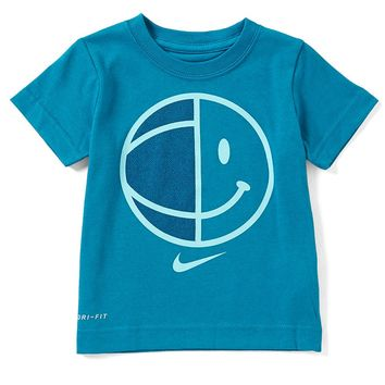 Nike Little Boys 2T-7 Smiley Basketball Dri-FIT Tee | Dillards