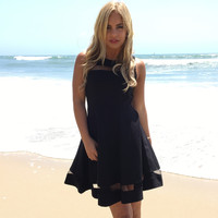 Feminine Flare Dress In Black