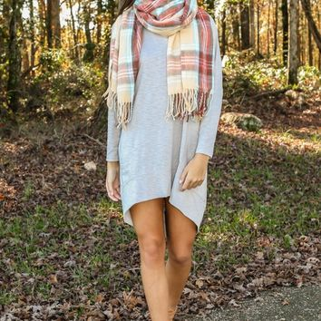 FRINGE: The Cold Never Bothered Me Anyway Dress-Oatmeal