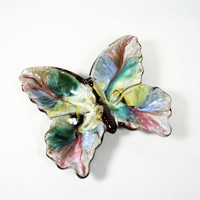 Mid Century Japan Redware Butterfly Dish