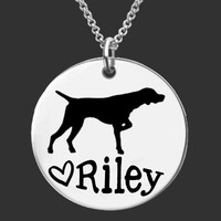 German Shorthaired Pointer Personalized Necklace