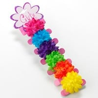 Riviera 6-pk. Floral Ponytail Holders (Bright)