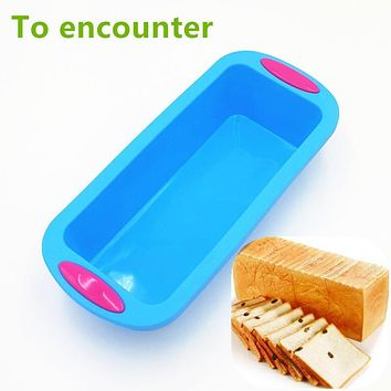 To encounter 28*12.5*6.3cm 175G Big Square Quadrate Shape 3D Silicone Cake Mold Bread &Loaf Pans DIY Baking Tools For Bakeware
