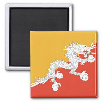 Magnet with Flag of Bhutan