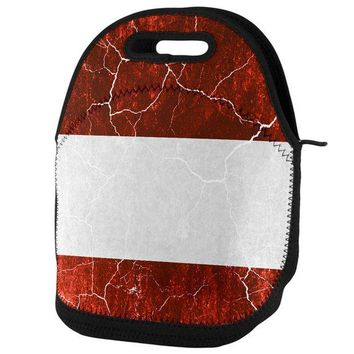 PEAPGQ9 Austrian Flag Distressed Grunge Lunch Tote Bag