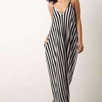 Wide Stripe Sleeveless maxi Dress | UrbanOG