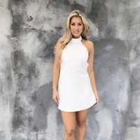 Cure All Halter White Dress