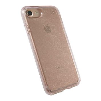Speck Products Presidio Clear + Glitter Cell Phone Case for iPhone 7, iPhone 6/6S - Gold Glitter/Rose Pink Clear