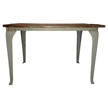 Pre-owned Queen Anne Metal Leg Table