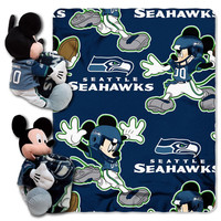 Seattle Seahawks NFL Mickey Mouse with Throw Combo