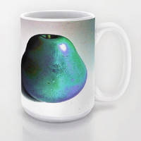 Groovy Pear, turquoise, purple - Ceramic Mug, 2 Sizes Available - Kitchen, Bathroom, New Home or Apartment, Gift - Made To Order-GP#79