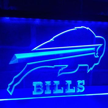 LD034- Buffalo Bills Pub Bar   LED Neon Light Sign  home decor  crafts