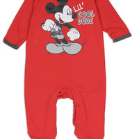Mickey Mouse Newborn Baby's Lil Cool Dude Onesuit