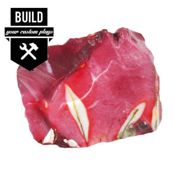 """Build Your Mookaite Stone Plugs (2g-3"""")"""