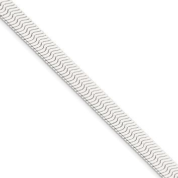 Men's 8.75mm, Sterling Silver Solid Herringbone Chain Bracelet