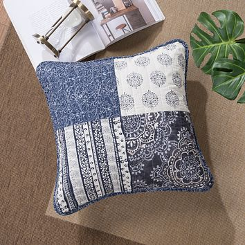 "DaDa Bedding Set of Two Bohemian Denim Blue Elegance Throw Pillow Covers - 18"" - 2-PCS (JHW660)"