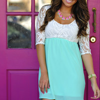 She's So Rosy Dress: Mint | Hope's