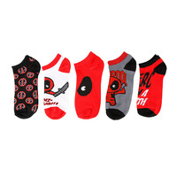 Marvel Deadpool No-Show Socks 5 Pair
