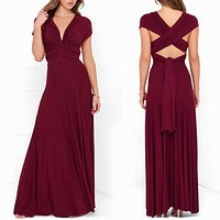 Long Summer Convertible Bohemian Dresses Casual Bandage Evening Prom Club Party Infinity Multiway Maxi Dresses