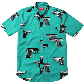 Supreme: Guns Shirt - Teal