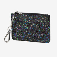 Black Glitter ID Wallet