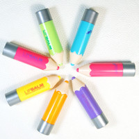 Top Quality Lip Balm Fantastic Crayons Funky Unisex Pencil Shaped Solid Moisturizer stick Lip Balm