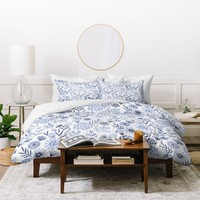 Pimlada Phuapradit Blue and white floral 3 Duvet Cover