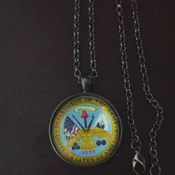 United States Army military necklace
