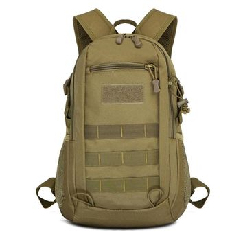 Mens Canvas Bags Waterproof Molle Backpack Military 3P School Trekking Ripstop Woodland Gear Men Assault Cordura Bag Packsack