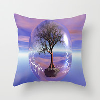 globe of life Throw Pillow by Store2u