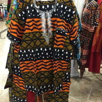 African Print Dashiki & Pants Set (Unisex)
