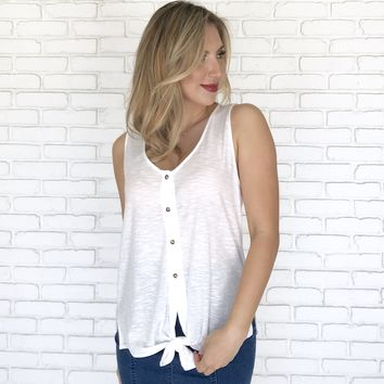 Knot Your Average Tank in Ivory