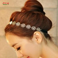 Korea Imported Genuine Hair Accessories Headdress Plate Made Female Hollow Rose Hair Band Hair Bands Free Shipping
