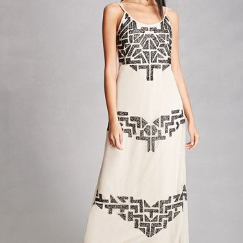 Whispers NY Beaded Maxi Dress