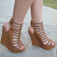 Gladiator Wedges - Tan