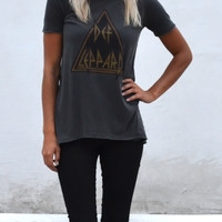 Chaser Clothing | Chaser - Def Leppard Crew Long Tee » West Of Camden