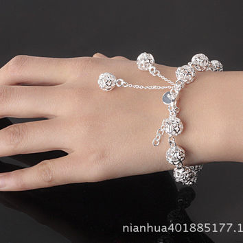 Hot Sale Great Deal Awesome Gift Stylish New Arrival Shiny Korean Accessory Silver Bracelet [10427400404]