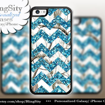 Monogram iPhone 5C 6 6 Plus Case White Camo Aqua Teal Sparkle Chevron iPhone 5s 4 case Ipod Real Tree Personalized Country Inspired Girl