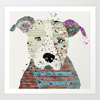 pit bull graffiti Art Print by bri.buckley