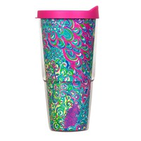 Insulated Tumbler with Lid in Lilly's Lagoon by Lilly Pulitzer - FINAL SALE