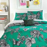 Emerald Toile 3 Piece Full/Queen Reversible Comforter Set