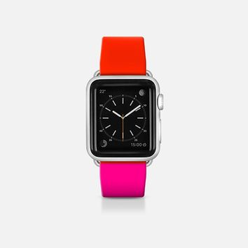 Red and Pink  - Bicolor collection Apple Watch Band (38mm)  by WAMDESIGN | Casetify