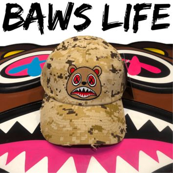 Cinnamon Baws Desert Digi Camo Distressed Dad Hat