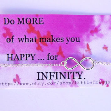"""Infinity - Inspirational Quotes - """"Do more  what you Love, 4 Infinity""""-  Open Your  Heart Necklace."""