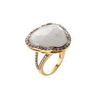 Rina Limor Women's Gold & Silver Sliced Grey Sapphire Ring - Grey