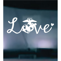 Marines Love Vinyl Graphic Decal