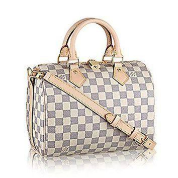 PEAPYD9 Authentic Louis Vuitton Speedy Bandouli¡§¡§re 25 Cross Body Leather Handles Bag Article: