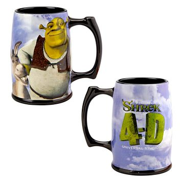 Universal Studios 4-D Shrek & Donkey Ceramic Coffee Mug New