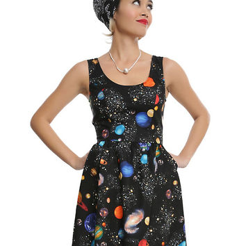 Bright Planets Fit & Flare Dress