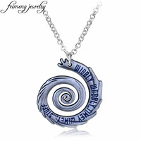 David Tennant famous phrase Doctor Who  Wibbly Wobbly Timey Wimey Pendant